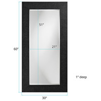 Howard Elliott Collection 2142BL Lancelot 32 X 21 inch Glossy Black Wall Mirror, Rectangle alternative photo thumbnail
