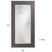 Howard Elliott Collection 2142CH Lancelot 32 X 21 inch Charcoal Gray Wall Mirror, Rectangle alternative photo thumbnail