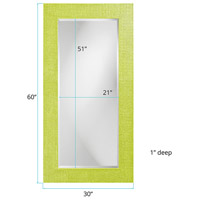 Howard Elliott Collection 2142MG Lancelot 32 X 21 inch Green Wall Mirror, Rectangle alternative photo thumbnail