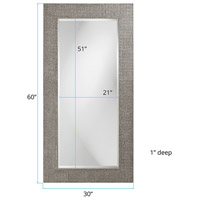 Howard Elliott Collection 2142N Lancelot 32 X 21 inch Nickel Wall Mirror, Rectangle alternative photo thumbnail