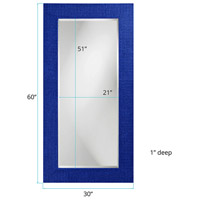 Howard Elliott Collection 2142RB Lancelot 32 X 21 inch Royal Blue Wall Mirror, Rectangle alternative photo thumbnail
