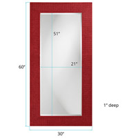 Howard Elliott Collection 2142R Lancelot 32 X 21 inch Red Wall Mirror, Rectangle alternative photo thumbnail