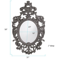 Howard Elliott Collection 2146CH Dorsiere 50 X 31 inch Glossy Charcoal Wall Mirror alternative photo thumbnail