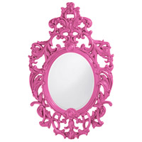 Howard Elliott Collection 2146HP Dorsiere 50 X 31 inch Hot Pink Wall Mirror, Oval photo thumbnail
