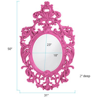 Howard Elliott Collection 2146HP Dorsiere 50 X 31 inch Hot Pink Wall Mirror, Oval alternative photo thumbnail