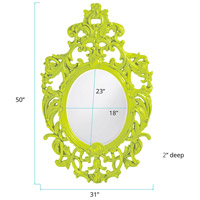 Howard Elliott Collection 2146MG Dorsiere 50 X 31 inch Green Wall Mirror, Oval alternative photo thumbnail