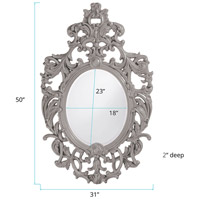 Howard Elliott Collection 2146N Dorsiere 50 X 31 inch Nickel Wall Mirror, Oval alternative photo thumbnail