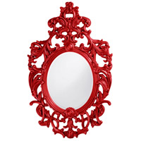 Howard Elliott Collection 2146R Dorsiere 50 X 31 inch Red Wall Mirror, Oval photo thumbnail