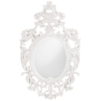 Howard Elliott Collection 2146W Dorsiere 50 X 31 inch White Wall Mirror, Oval photo thumbnail
