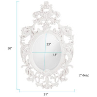 Howard Elliott Collection 2146W Dorsiere 50 X 31 inch White Wall Mirror, Oval alternative photo thumbnail