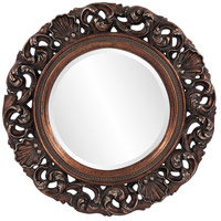 Howard Elliott Collection 2170 Glendale 26 X 26 inch Mottled Antique Gold Wall Mirror, Round photo thumbnail