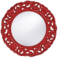 Howard Elliott Collection 2170R Glendale 26 X 26 inch Red Wall Mirror, Round photo thumbnail