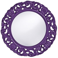 Howard Elliott Collection 2170RP Glendale 26 X 26 inch Royal Purple Wall Mirror, Round photo thumbnail