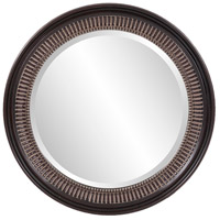 Howard Elliott Collection 2172 Monmouth 26 X 26 inch Distressed Antique Brown Wall Mirror, Round photo thumbnail