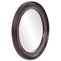 Howard Elliott Collection 2172 Monmouth 26 X 26 inch Distressed Antique Brown Wall Mirror, Round alternative photo thumbnail