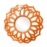 Howard Elliott Collection 2196O Casey 32 X 32 inch Orange Wall Mirror, Round, Sunflower Frame photo thumbnail