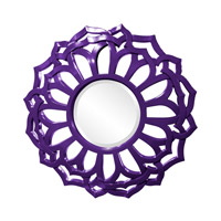 Howard Elliott Collection 2196RP Casey 32 X 32 inch Royal Purple Wall Mirror, Round, Sunflower Frame photo thumbnail