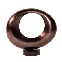 Howard Elliott Collection 22123 Orb Pewter Lacquer and Black Base Sculpture, Black Base