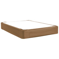 Signature Bronze and Faux Leather Boxspring Cover, Full