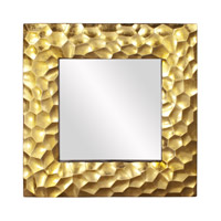 Howard Elliott Collection 25100 Marley 39 X 39 inch Gold Leaf Wall Mirror, Square photo thumbnail