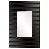 Howard Elliott Collection 29012 Edge 36 X 21 inch Black Wall Mirror, Rectangle, Bowed Effect photo thumbnail