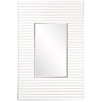 Howard Elliott Collection 29013 Edge 36 X 21 inch White Wall Mirror, Rectangular, Bowed Effect photo thumbnail