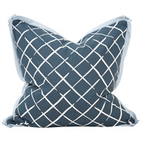 Howard Elliott Collection 3-664F Madcap Cottage 24 inch Cove End Indigo Pillow, with Down Insert photo thumbnail