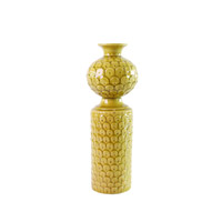 Signature Citrine Yellow Glaze Vase, Scalloped, Small