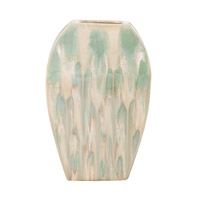 Signature Green Glaze and Beige Vase, Large