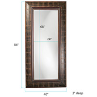 Howard Elliott Collection 33017 Pamela 40 X 3 inch French Brown Floor Mirror, Rectangle alternative photo thumbnail