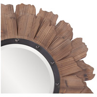 Howard Elliott Collection 37075 Hawthorne 35 X 35 inch Natural Wood Wall Mirror, Round, Black Iron Accents alternative photo thumbnail