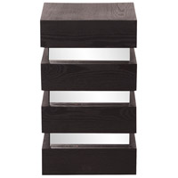 Howard Elliott Collection 37127 Stepped 12 X 12 inch Espresso Wood Veneer Pedestal Home Decor, Small