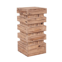 Howard Elliott Collection 37129 Stepped 28 X 12 inch Natural Wood Pedestal, Medium