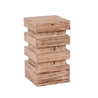 Howard Elliott Collection 37130 Stepped 20 X 12 inch Natural Wood Pedestal, Small