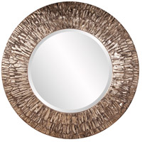 Howard Elliott Collection 37151 Linden 36 X 36 inch Champagne and Black Wall Mirror, Round photo thumbnail