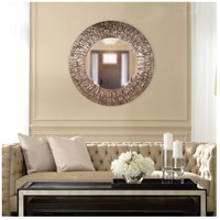 Howard Elliott Collection 37151 Linden 36 X 36 inch Champagne and Black Wall Mirror, Round alternative photo thumbnail