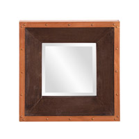 Howard Elliott Collection 37171 Blaze 72 X 36 inch Walnut Stained Wall Mirror, Square photo thumbnail