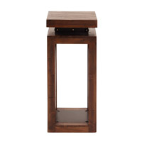 Howard Elliott Collection 37181 Signature 28 X 12 inch Walnut Stain With Accents Of Black Iron Pedestal