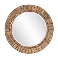Howard Elliott Collection 39008 Gideon Natural Wood Wall Mirror, Round photo thumbnail