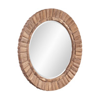 Howard Elliott Collection 39008 Gideon Natural Wood Wall Mirror, Round alternative photo thumbnail