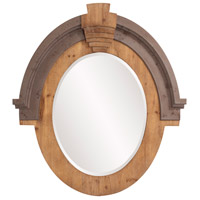 Howard Elliott Collection 39038 Hudson 39 X 35 inch Brown Wall Mirror, Oval photo thumbnail