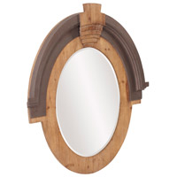 Howard Elliott Collection 39038 Hudson 39 X 35 inch Brown Wall Mirror, Oval alternative photo thumbnail