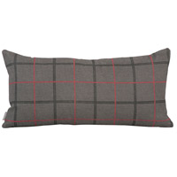 Howard Elliott Collection 4-1007 Kidney 22 inch Oxford Charcoal Pillow photo thumbnail