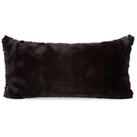 Howard Elliott Collection 4-1090 Kidney 22 inch Angora Ebony Pillow photo thumbnail