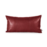 Kidney 22 X 6 inch Deep Red Pillow