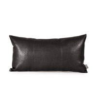 Kidney 22 X 6 inch Sultry Black Pillow