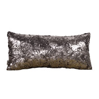 Kidney 22 X 6 inch Silver Pillow