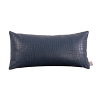 Howard Elliott Collection 4-469F Gator 22 X 11 inch Indigo Blue Pillow, Square photo thumbnail