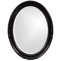 Howard Elliott Collection 40101BL Queen Ann 33 X 25 inch Glossy Black Wall Mirror, Oval photo thumbnail