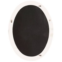 Howard Elliott Collection 40101BL Queen Ann 33 X 25 inch Glossy Black Wall Mirror, Oval alternative photo thumbnail
